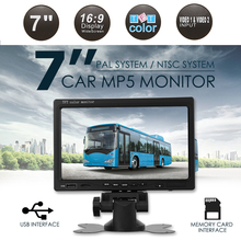 Lcd-Screen Car-Monitor Video-Player 7inch Dvd Car Vehicle Rear-View-Camera Reverse TFT