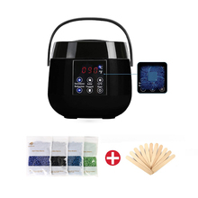 Wax Warmer Hair Removal Waxing Kit Wax Heater With Painless Hard Wax Beans With LCD Digital Screen For Men/Women Home US PLUG electric wax heater set 100g hard wax beans 10pcs stir bar hair removal machine wax for depilation waxing kit health care