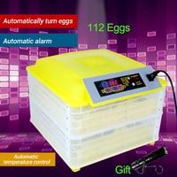 112 Digital Egg Incubator Machine Automatic Hatchery Clear Egg Turning Temperature Control Farm Chicken Egg Incubator Controller