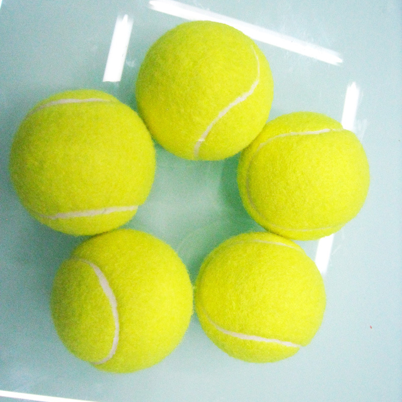 1 Pcs Tennis Balls For Training 100% High Quality Synthetic Fiber Quality Rubber Competition Standard Tenis Balls