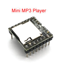 DFPlayer Mini MP3 Player Module MP3 Voice Decode Board Supporting TF Card U-Disk IO/Serial Port/AD MP3-TF-16P for Arduino UNO