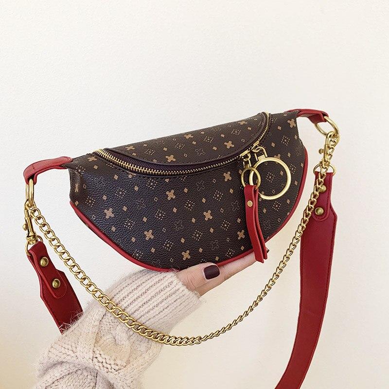 Luxury Designer Leather Shoulder Bags For Women 2019 Crossbody Pack Women Bag Designer Chest Bags Fanny Pack Waist Packs