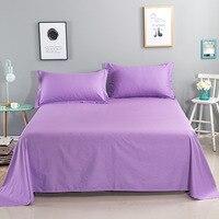 100% хлопок чистый цвет плоский лист для детей взрослых односпальная двуспальная кровать плоские простыни (без наволочки) XF656