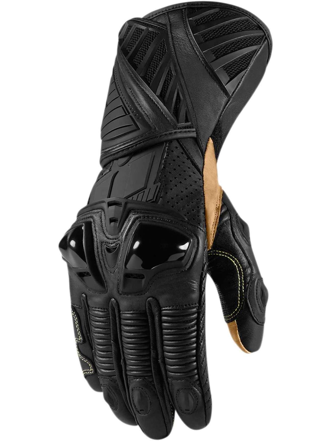 Icon Hypersport Pro мотоперчатки черные длинные|Перчатки| | АлиЭкспресс
