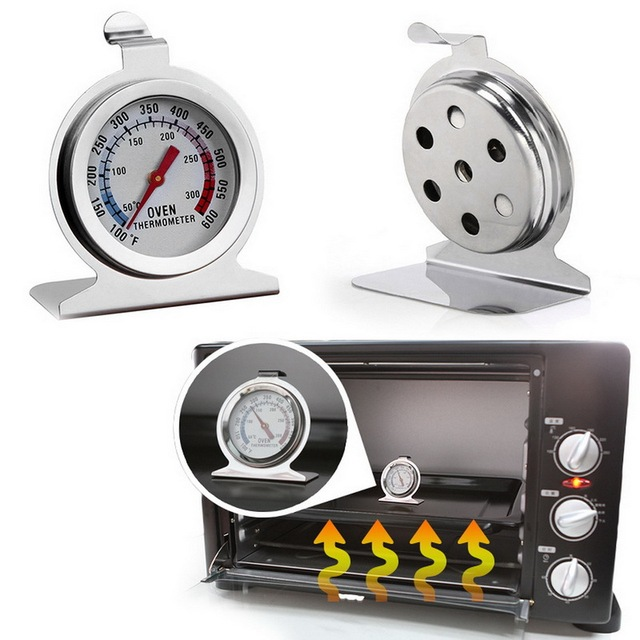 Stainless Steel Oven Thermometer 50-300°C/100-600°F Kitchen Food Meat Dial Thermometer Grill Temperature Gauge For BBQ Baking 2