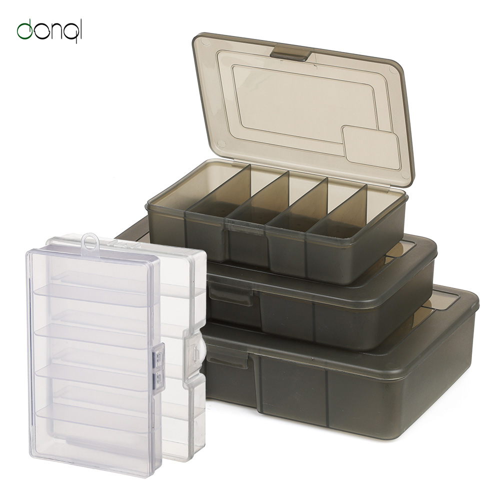 DONQL 5 Compartments Fishing Tackle Box For Fish Lure Hook Fishing Connector Fish Accessories Tool Plastic Storage Fishhook Box