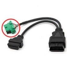 Proszę kliknąć na zielony OBD 2 OBD2 OBD II przedłużenie rozgałęźnika Y kabel 1 do 2 Port 16 Pin diagnostyczny ELM327 przewód elektroniczny złącze