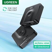 Ugreen hdmiスプリッタ3D 4 18k xiaomi miボックス双方向hdmiスイッチャーケーブルxbox PS4テレビボックススプリッタhdmiケーブルスイッチャー