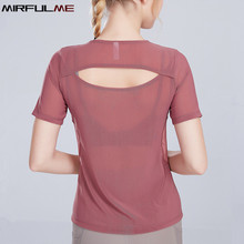 Women T-shirt Mesh Hollow Out Yoga Shirt Female Short Sleeve Running Sport T-shirt Quick Dry Fitness Workout Tops Gym Tee Blouse jeansian men s sport tee shirt tshirt t shirt tops gym fitness running workout football short sleeve dry fit lsl131 gray