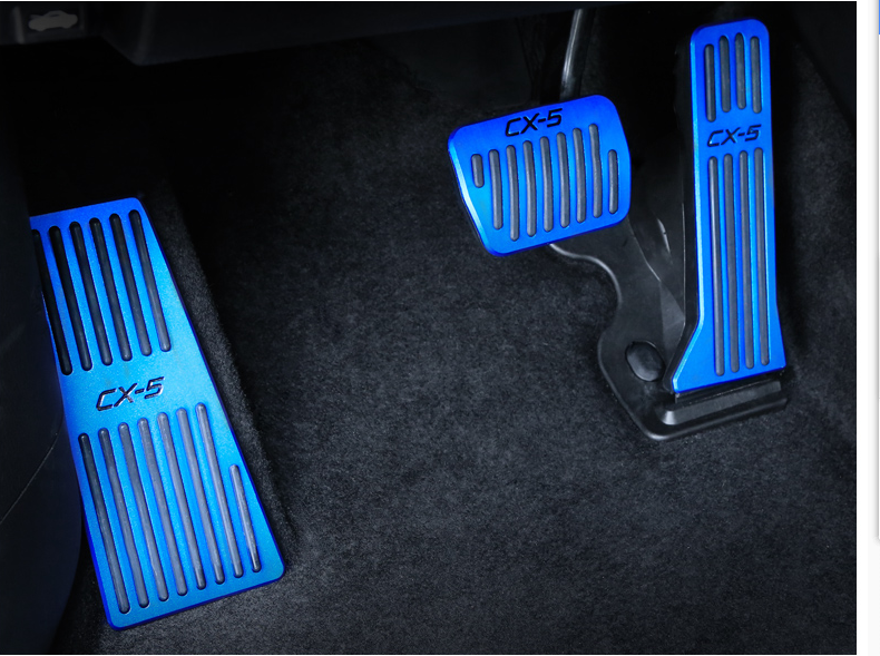 For <font><b>Mazda</b></font> CX5 <font><b>CX</b></font>-<font><b>5</b></font> <font><b>Accessories</b></font> Car Accelerator Footrest brake pedal Aluminum auto pedal pads <font><b>Interior</b></font> Refit 2017 <font><b>2018</b></font> 2019 image