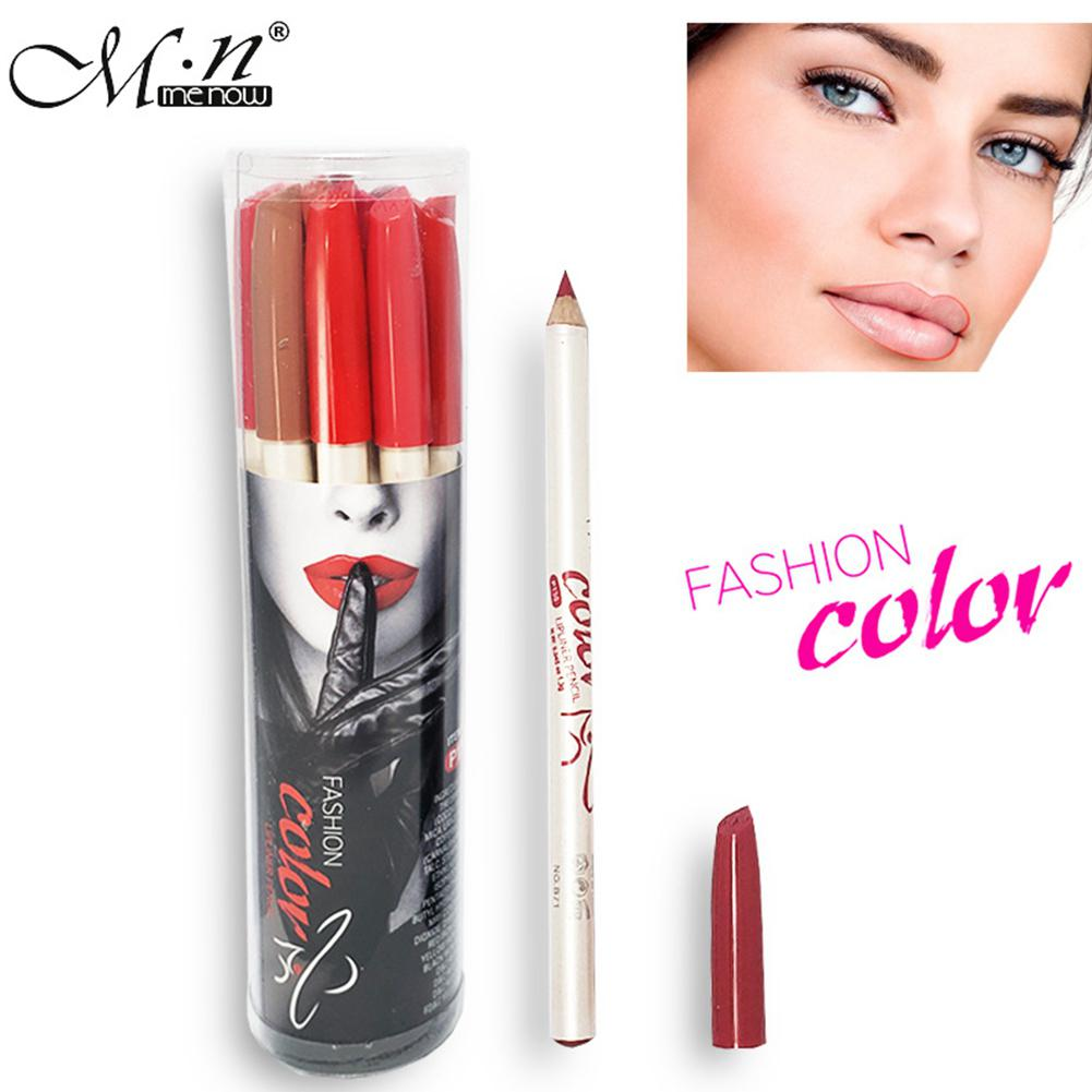 DSstyles 12 Pcs Professional Matte <font><b>Lip</b></font> Liner <font><b>Makeup</b></font> Waterproof Long Lasting <font><b>Lipstick</b></font> Pencil <font><b>Set</b></font> <font><b>Makeup</b></font> Tool Cosmetics image