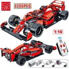 MORK 1:10 uzaktan kumanda formülü yarış Drift araba yapı taşı şehir teknik RC ünlü spor araç tuğla oyuncak çocuklar için