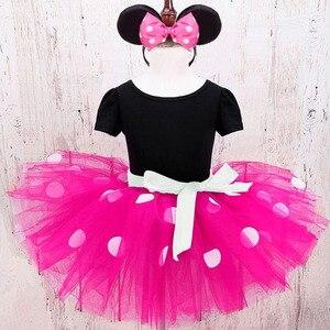 Карнавальный костюм в горошек для маленьких девочек, карнавальный костюм на день рождения, платье-пачка из тюля, платье на крестины для младенцев и детей постарше