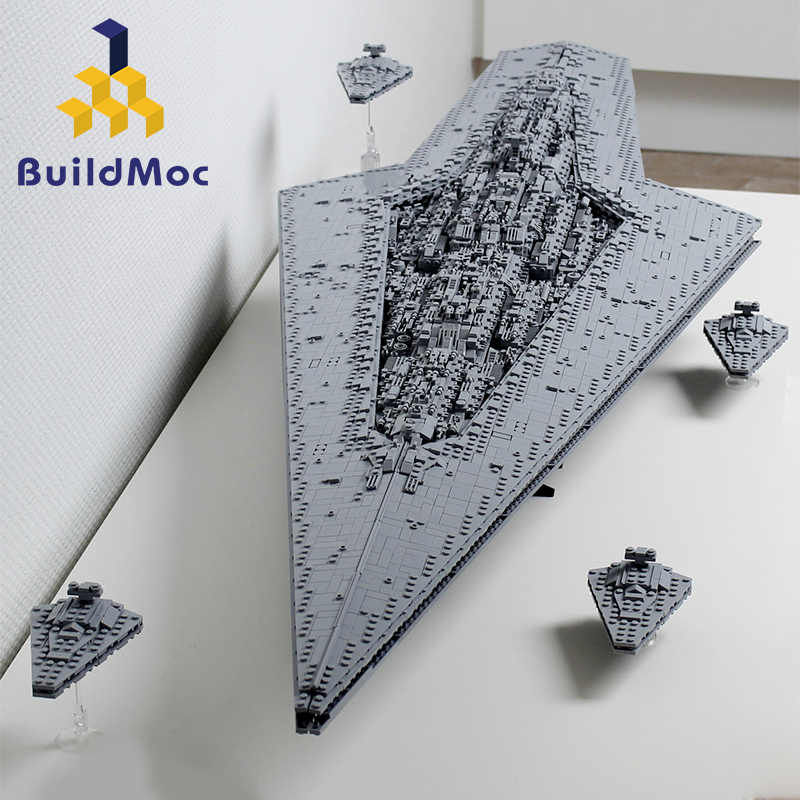 BuildMoc Super Star Cacciatorpediniere Blocchi Wars Executor classe Star Dreadnought La Nave Technic Star Wars 10221 10030 Giocattoli Regalo di Mattoni