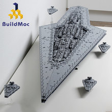 BuildMoc Super star Cacciatorpediniere Blocchi Wars Executor classe star Dreadnought La Nave Technic star Wars 10221 10030 Giocattoli Regalo di Mattoni(China)