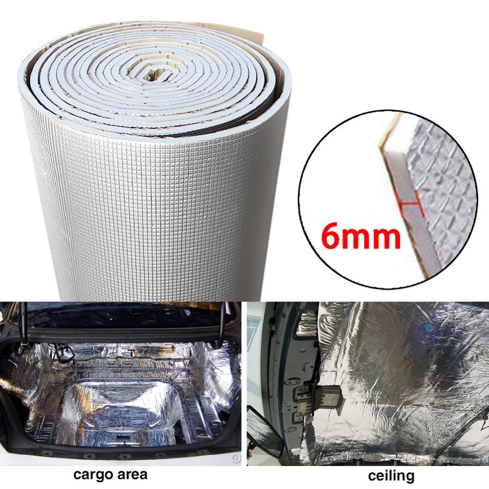 6 мм 236mil Толстая алюминиевая фольга + глушитель хлопковый автомобильный внутренний Теплоизолирующий звукоизолирующий звукоизоляционный к...