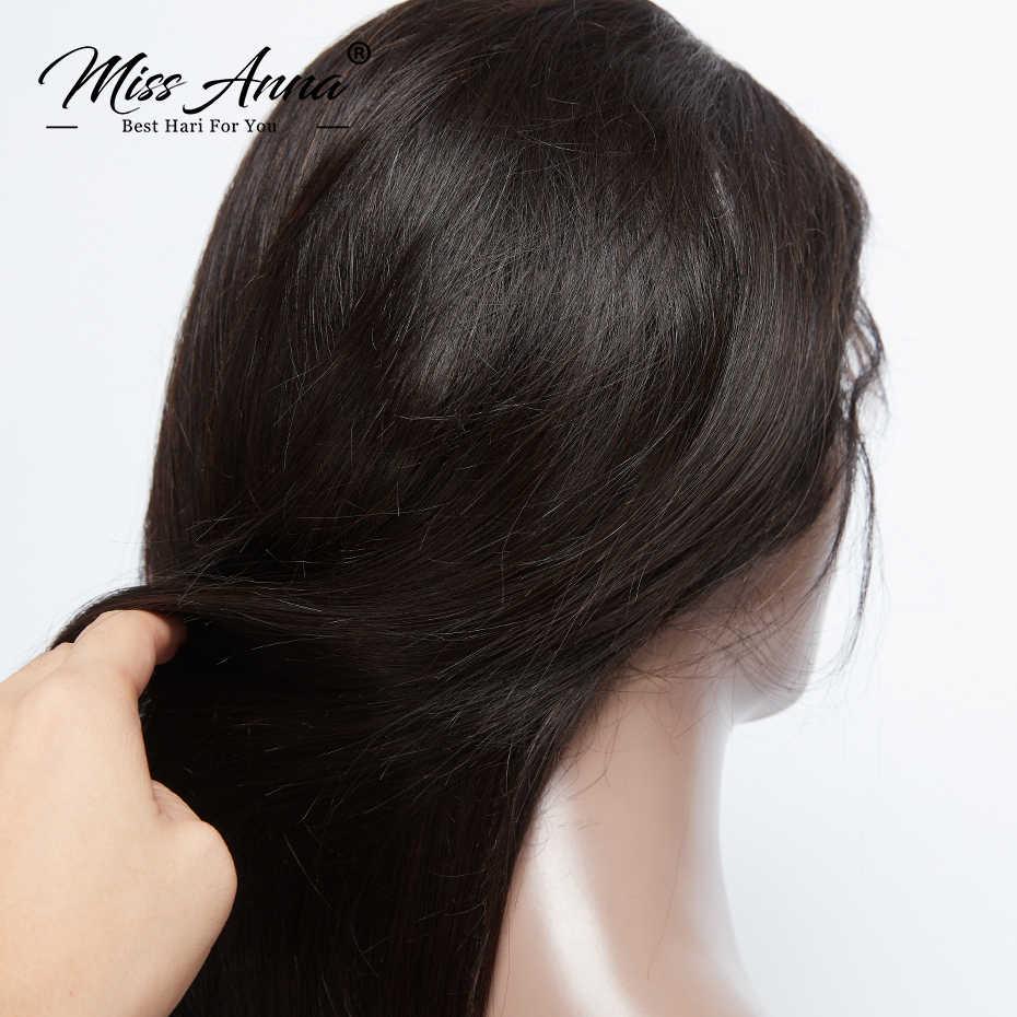 MissAnna باروكة شعر شريطي كامل الباروكات عالية الشعر البرازيلي شعر ريمي مستقيم قبل نتف بشعر الطفل