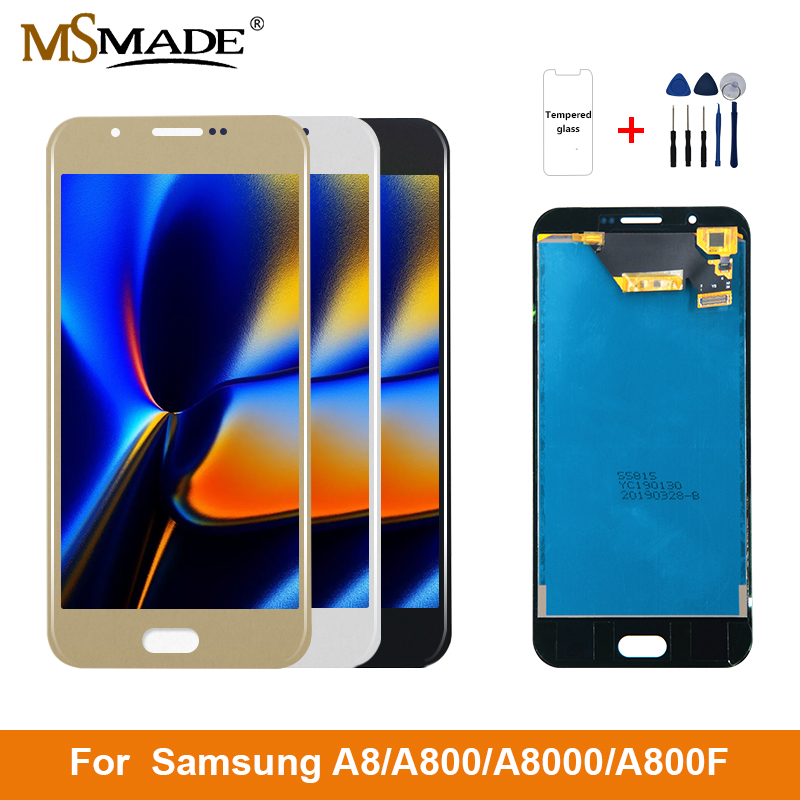 A800 LCD For Samsung Galaxy A8 2015 Display Touch Screen A8000 For Samsung Galaxy A800F LCD Screen Digitizer Replacement 5.7