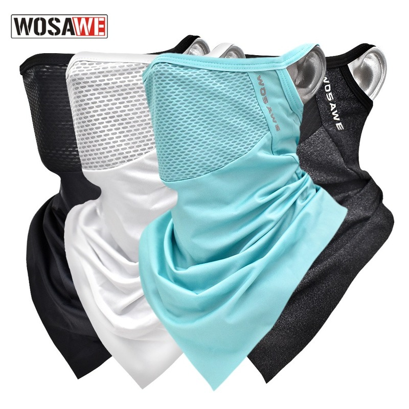 Wosawe Мужская/Женская Мужская маска для лица шарф для велоспорта дышащий солнцезащитный треугольный чехол для лица для занятий спортом на от...