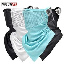 Wosawe Men Women Face Mask Scarf Cycling Bike Bicycle Scarf Cover Breathable Sunscreen Outdoor Sports Triangle Face Coverings