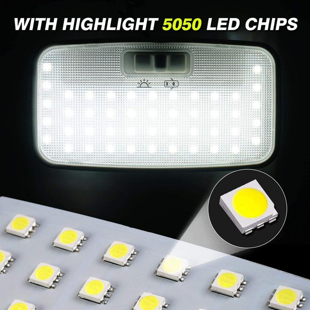 for Toyota Prius 30 XW30 ZVW30 V α 2010~2015 Night Interior Lamps Dome Roof lights LED 4x4 Trunk Reading Lamp White Canbus Bulbs 5
