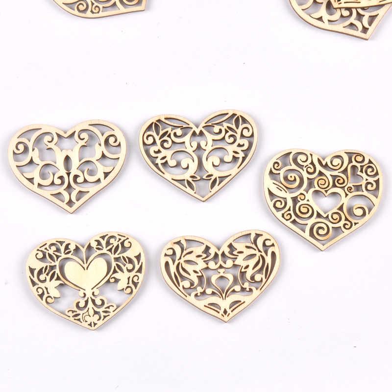 38x50mm misturado laço coração pendurado pingente fatias de madeira artesanato para diy scrapbook decoração para casa ornamento de madeira 10 pçs 80mm m2584