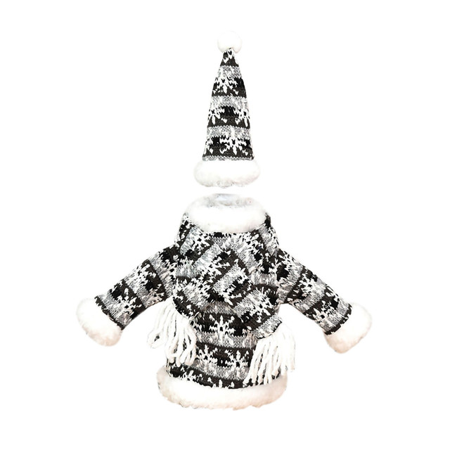 Christmas home decorations Christmas Decorations Mini Cute Knitted Fabric Dress Suit Wine Bottle Cover boże narodzenie navidad 4