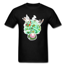 Look Upon The Flowering Lilypads Lotus Tshirt Men New White Black Fashion Picture Tee Shirts Fish Australia T Shirt XXL(China)