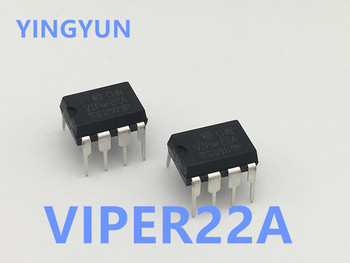 5PCS/LOT   VIPER22A VIP22A  Low Power OFF Line SMPS Primary Switcher  VIPer22 DIP-8 New original 5pcs lot new original ta6586 6586 dip 8 motor driver ic