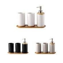 Kreatywny ceramiczny bambus łazienka szklany uchwyt na szczoteczki do zębów kubek łazienka emulsja pojemnik kuchnia zmywanie naczyń pojemnik na płyny