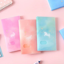 1pc 120 Slots ID Holders Cute cartoon card book star large capacity business card clip ticket collection book Card Stocks