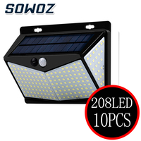 10PCS LED Solar Light Outdoor Solar Lamp PIR Motion Sensor Wall Light Waterproof Solar Powered Sunlight for Garden Decoration