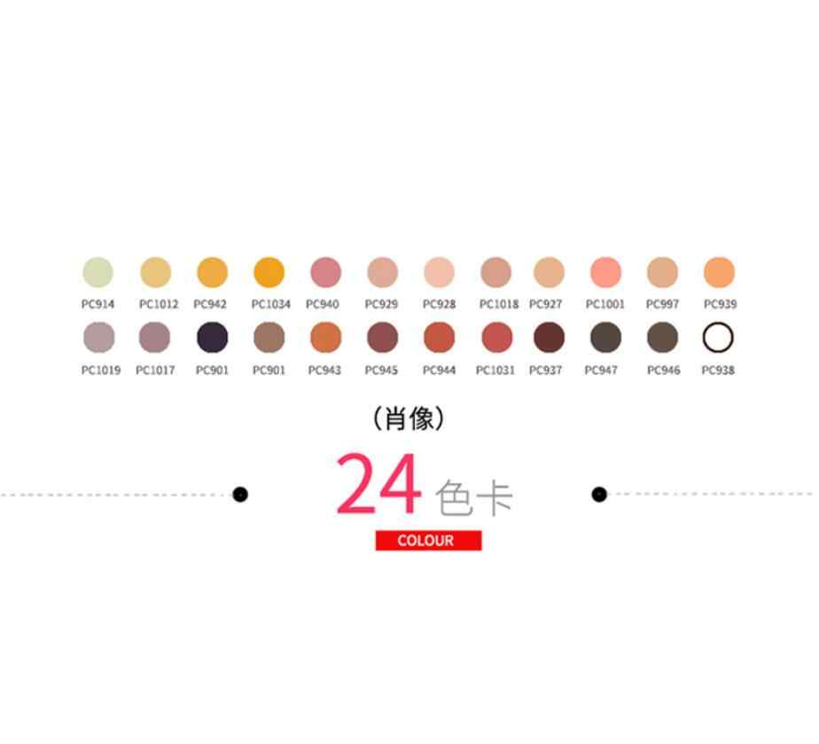 24 colores piel retrato de color lápiz graso suave gran núcleo pintura lápiz caja de lata para Sanford Prismacolor lápiz al óleo