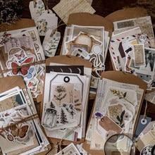 30 Pçs/set Vintage Scrapbooking Diy Adesivos Pacote Retro Decorativo Natural Coleção Diário Jornal Washi fita de Papel Adesivo para a Arte