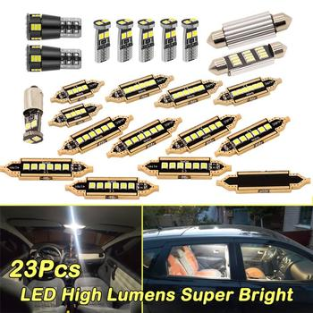 23Pcs Universal LED T10 5050 Car Light Bulb Interior Dome Trunk License Plate Lamps Kit White For Bmw E60 E90 Golf 4 7 LED Lamp image