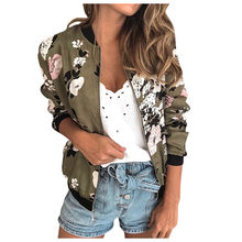 chaquetas mujer 2019 jacket women Long Sleeve Retro Floral Zipper Up Thin Skin Suits Hooded Zip Stitching Outwear Short Coat(China)