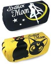 Cartoon Anime Sailor Moon Cosplay Tsukino Usagi Pencil Case Cat Pencil Bag Double-Zipper Stationery Pouch Organizer Holder Girls(China)