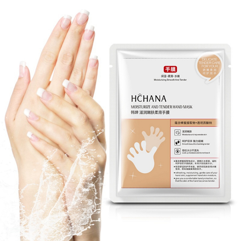 Honey Milk Hand Mask Moisturizing Smooth Fine Lines Brighten Hand Mask Skin Color Whitening Exfoliating Skin Care