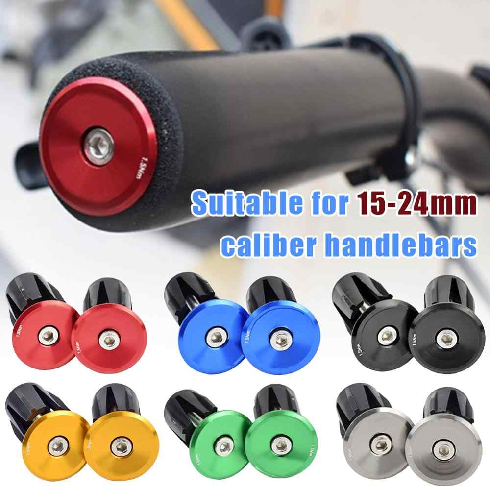 Handlebar Grips Covers Handle Bar Cap  Aluminum Alloy Bike Handle End Plugs