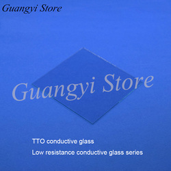 12pcs  ITO Conductive Glass 100 X 100 X 1.1mm, 7ohm/sq