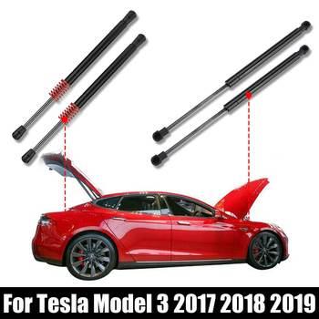 Nowy 2X przód tył klapa tylna bagażnika klapa tylna Boot sprężyna gazowa Shock Lift rozpórki wsparcie dla Tesla Model 3 2017 2018 2019 tanie i dobre opinie Autoleader 500g Steel Direct replacement easy installation