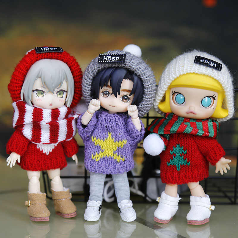 Ob11 인형 옷 몰리 body9 GSC 요소 바디 스웨터 1/8BJD 인형 옷 새해 크리스마스 옷 인형 의류 액세서리