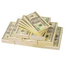 9 pces criativo engraçado 100 dólares dinheiro impresso guardanapos de papel 3 camadas tecido