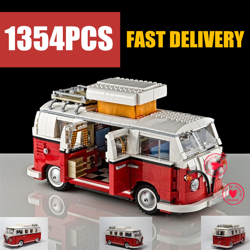 NEW 1354Pcs Creator Camper Racing Van Car Fit Technic City Model Building Block Bricks Toys Gift