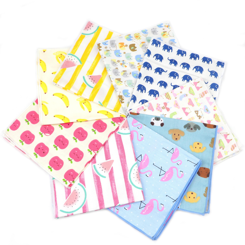 Fancy Fruits Animal Cartoon Printed Handkerchief 100% Cotton Women&Men Hankie Wedding Suits Pocket Square Adult Gift Accessory
