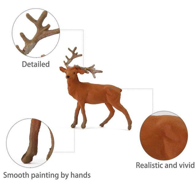 12pcs/24pcs Model Railway HO Scale 1:87 Painted Wild Animal Moose Elk PVC Model Deer AN8714 2