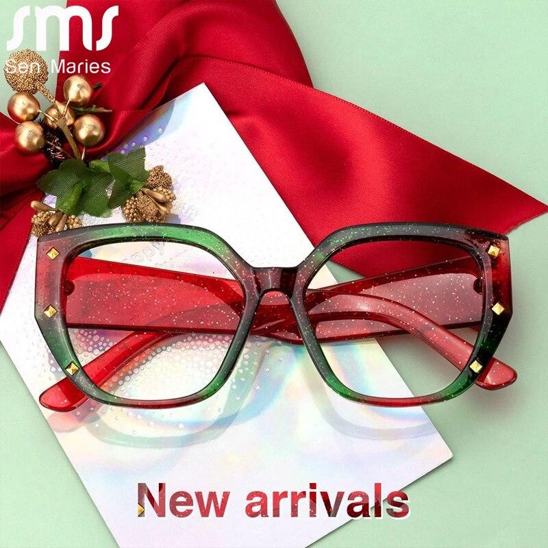 Vintage Anti mavi ışık optik gözlük kadın erkek şeffaf gözlük gözlük çerçevesi kare şeffaf Lens gözlük çerçevesi Unisex