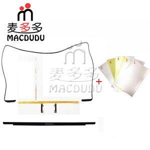 Новое ЖК-резиновое кольцо и листы подсветки, безель с логотипом и полоса подсветки для Macbook Pro Retina13