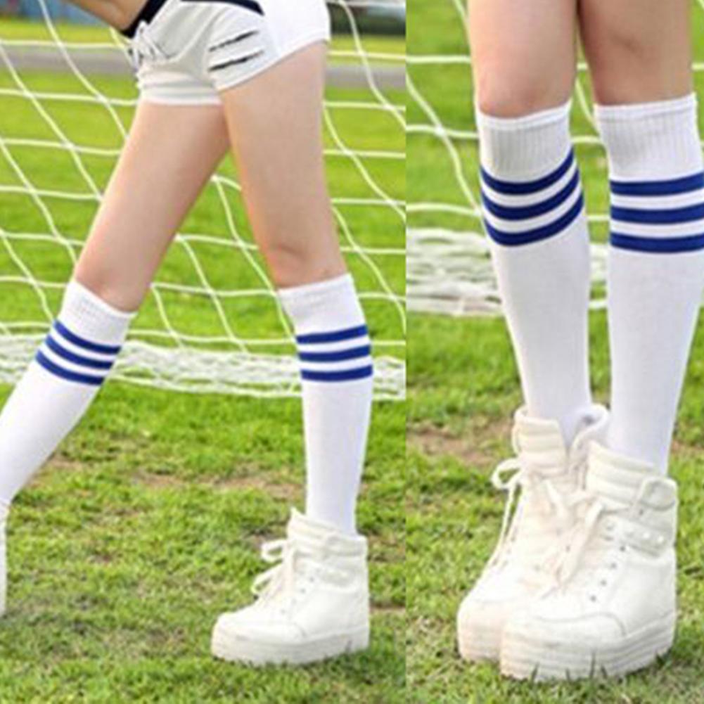 Teenager Unisex Long Striped Breathable Football Sports Casual High Tube Socks