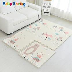 Baby Shining Baby Mat XPE Foam Kid Play Mat 180*120*2CM(71*47*0.8in) 6PCS Floor Mats Foam 0-8Y Waterproof Living Room